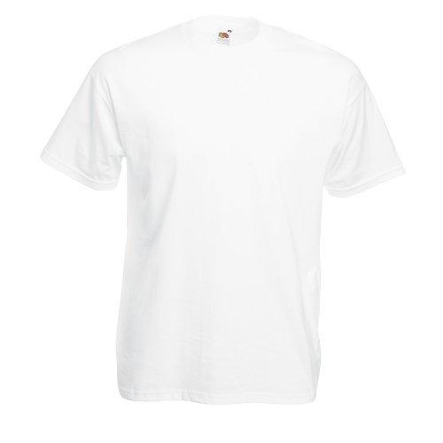 Valueweight T-Shirt von Fruit of the Loom S M L XL XXL XXXL verschiedene Farben L,Weiß L,Weiss (Shirt -)
