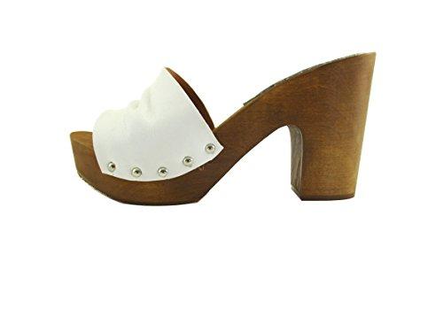 Silfer Shoes, Mules pour Femme Bianco