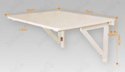 SoBuy Mesa de cocina, mesa plegable de pared, mesa de madera, mesa ...