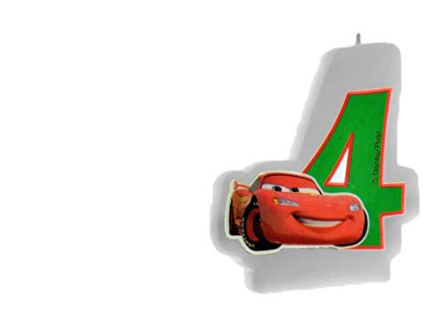 ALMACENESADAN 33539, Bougie d'anniversaire Disney Cars nunemo 4