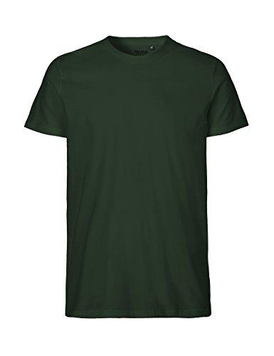 -Neutral- T-shirt, 100% Bio-Baumwolle. Fairtrade, Oeko-Tex und Ecolabel zertifiziert, Textilfarbe: flaschengrün, Gr.: XL (Baumwoll-t-shirt Weiches)