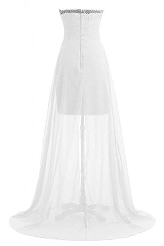 Sunvary elegante, Chic Sweetheart vestito lungo Pageant Gowns abiti da damigella d'onore abito Maxi Bianco