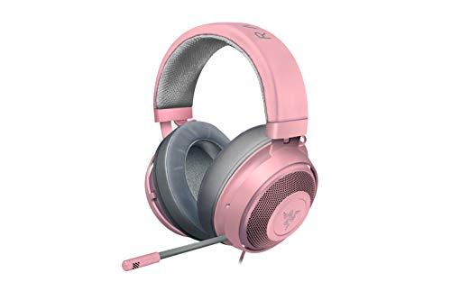Razer Kraken quartz - Gaming Headset mit Kühlenden Gel-Ohrpolstern für Ambitionierte Gamer (pink)