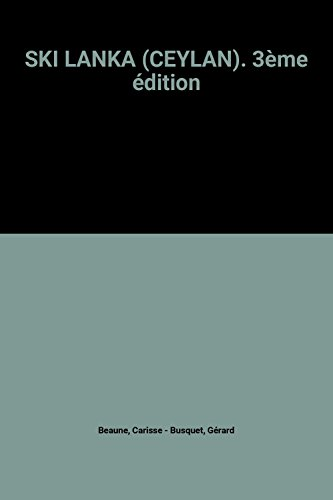 SKI LANKA (CEYLAN). 3ème édition
