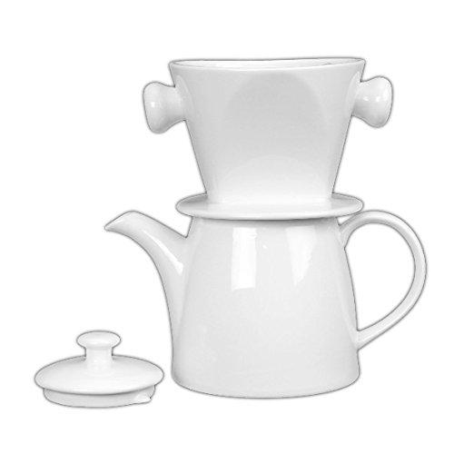 Holst Porzellan at 120 FA1 Kaffeekanne 1,2 l mit Filter und Deckel, Weiß, 23.5 x 13.5 x 23 cm
