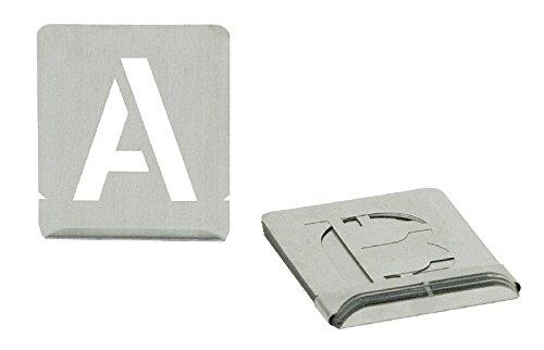Turnus 327-280 Signierschablonen Set Buchstaben A-Z Schrifthöhe 27-teilig, 80mm