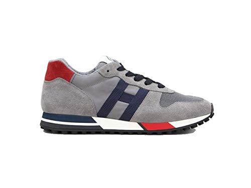 HOGAN UOMO Scarpe Sneakers Running Grigio Blu Nuove con Lacci 6,5, Grigio