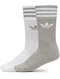 adidas Calcetines 2P Solid Gris Hombre y Mujer 43 46 Gris