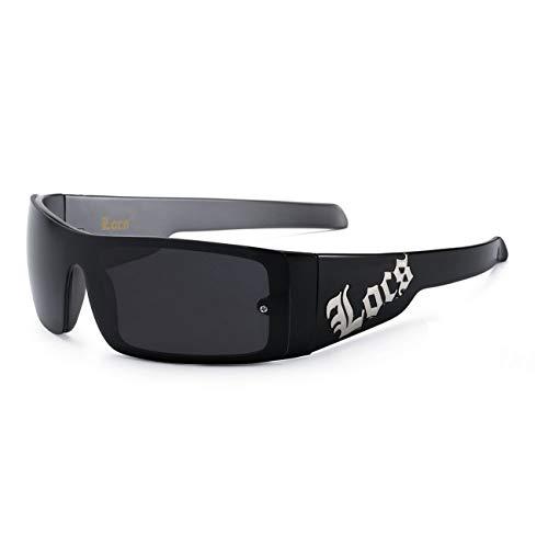 moda Authentisches Hardcore Locs Sonnenbrille für und mit Gloss Finish EINHEITSGRÖSSE Schwarz