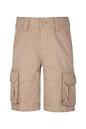 Mountain Warehouse Short Cargo pour Enfants - 100% Coton de sergé, Ceinture réglable, Short Doux, Poche, Entretien Facile - Camping, Voyage Beige 2-3 Ans