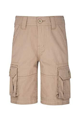 Mountain Warehouse Cargoshorts für Kinder - Kurze Hose aus 100% Baumwolle, Verstellbarer Bund, weiche Sommershorts, pflegeleicht - Für Camping, Reisen Beige 140 (9-10 Jahre) -