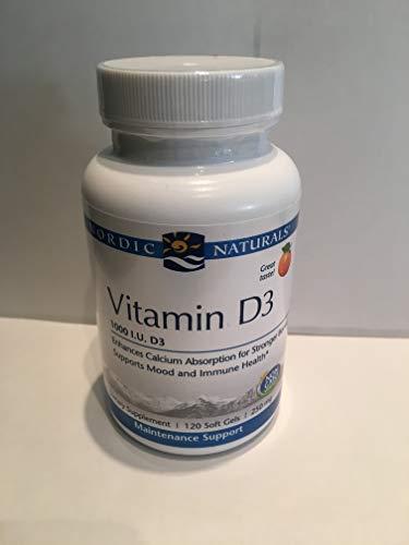 Nordic Naturals Nordic Vitamin D3 Healthy Mood Immune Function Bone Health 120 Soft Gels