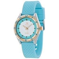 Clock Mare Women b35257/6Box Bicolor Strap Silicone Turquoise