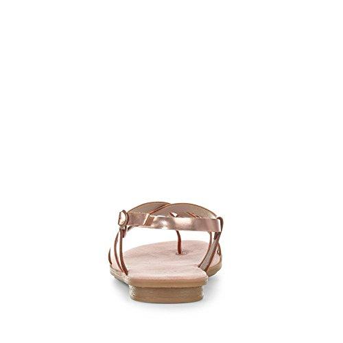 Rieker 64255, Tongs Femme Bronze