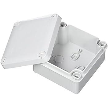 5/x IP44/Bo/îte de d/érivation avec /œillets en caoutchouc et couvercle /à clipser 65/x 35/mm ronde /éclairage Terminal C/âble de connexion bo/îtier adaptable