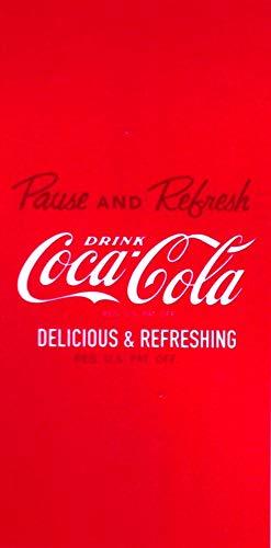 Grand Badetuch Coca Cola 75x 150cm & # •; Delicious & Refreshing, & # •; Strandtuch Velours & # •; CocaCola Beach Towel Toalla -