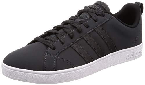 adidas Vs Advantage Scarpe da Tennis Uomo, Grigio Carbon/Cblack/Ftwwht, 45 1/3 EU