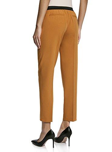 oodji Ultra Damen Klassische Hose mit Bügelfalten Orange (5900N)