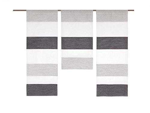 Miniflächen-Set quer gestreift Blockstreifen Scheibengardine