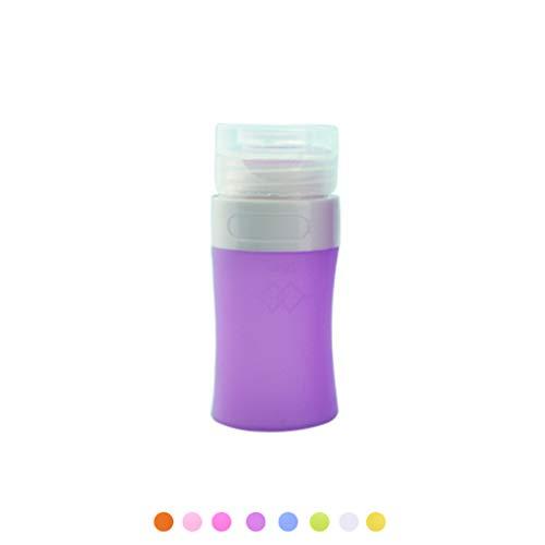Huyiko Silikon leere Tube, befüllbar, gepresst, Container, Kosmetik, Creme, Lotion, Flasche aus Kunststoff, mit Klappdeckel, Reise-Spender