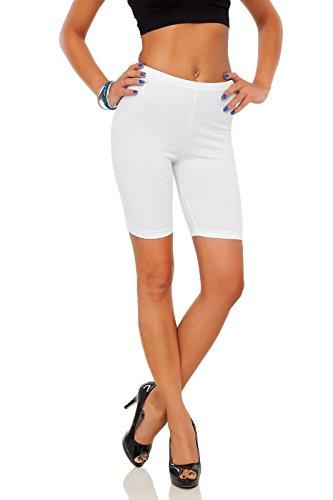futuro fashion Leggings coton 1/2 longueur sur-genou Short actif Sport Pantalon décontracté LK Blanc