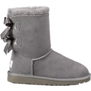 UGG® Australia - Classic Bailey Bow Kid´s - Lammfell Mädchen Stiefel mit Satinschleifen 3280 für Gr. 30-34, Grau (Grey), US 01 / EU 31