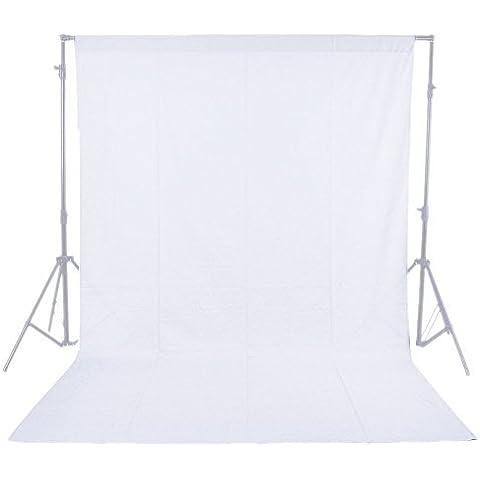 Una foto-engranajes Messines Nuevo Profesional 5.9ft blanco X 8.85ft estudio fotográfico foto de fondo 100% Cotton 21 muselina telón 1.8X2.7M Telón de fondo Photo Studio Lighting 1.8X2.7M chroma clave fondo de pantalla blanco telón de fondo