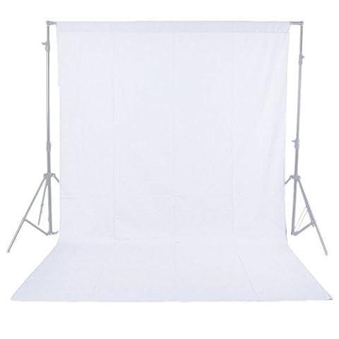Foto-gears Professionelle 5.9X8.8ft / 1.8x2.7M Photo Studio Wei? backgrop Bildschirm 100% Pure Muslin Hintergrund-Hintergrund f¨¹r Fotografie, Video und Fernsehen (nur Hintergrund) - 1.8x2.7M Wei?