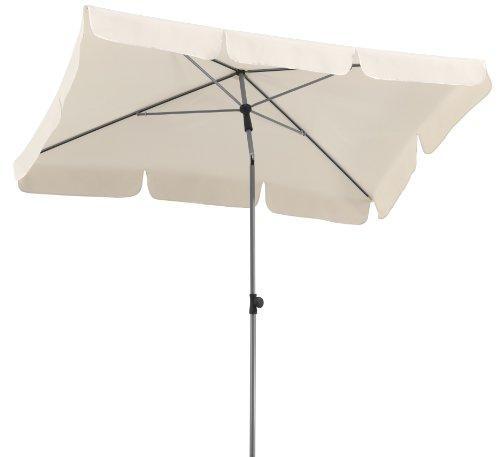 Schneider Sonnenschirm Locarno, natur, 180x120 cm rechteckig, Gestell Stahl, Bespannung Polyester, 2.3 kg