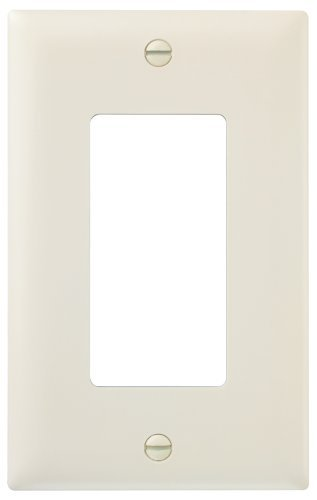 Legrand-Pass & Seymour TP26LACP TradeMaster Single-Gang Decorator Wall Plate, Light Almond, 10-Pack by Legrand-Pass & - Almond Light Plate Wall