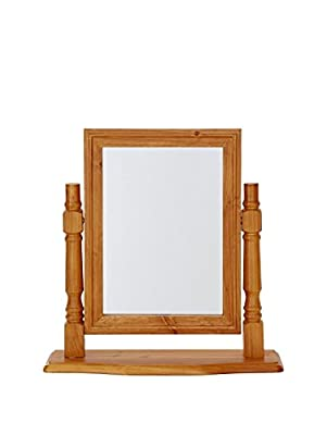 Stanton Solid Pine Dressing Table Mirror - Antique Finish - inexpensive UK light store.