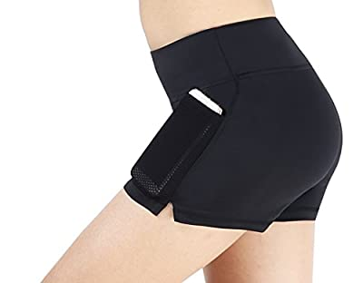 Sugar Pocket Yoga Shorts Women's Basic High Waisted Short