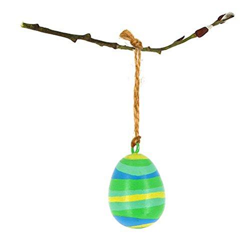 Osterdeko - Ei zum Aufhängen aus Mangoholz - Fair Trade (grün)