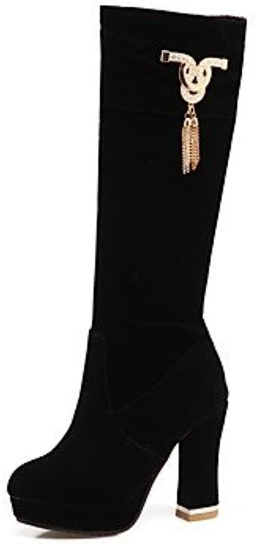 50de1005725 Women s Shoes Flocking Fall Winter Comfort Boots Chunky Heel Zipper Zipper  Zipper For Outdoor Office