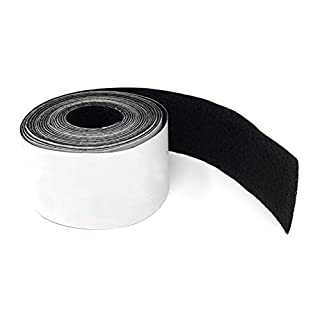 High-quality felt tape strong self-adhesive 4 meters long, 50mm wide in black - felt tape - furniture glider, anti squeak and anti scratch tape - tables, cabinets, insulation of rattling sounds