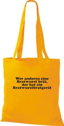 Une autre personne leur bRATWURST la pâte a un long bRATWURSTBRATGERÄT sac, sac bandoulière plusieurs couleurs Jaune - Jaune