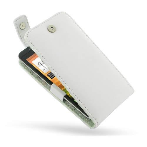 PDair Handarbeit Leder Flip Top Hülle for HTC EVO 4G LTE (White) (Otter Box Htc Lte)
