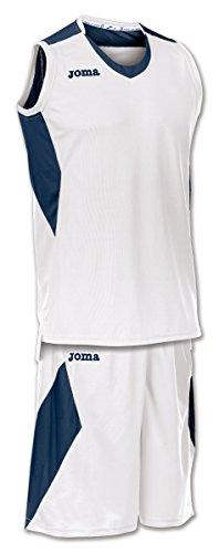 Joma Space - Basketball-Shirt und -Hose für Herren, Farbe weiß / marineblau.  Größe M weiß/dunkelblau