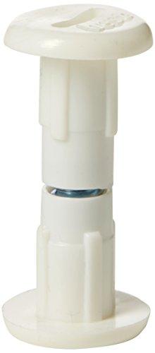 Bulk Hardware bh04786 Meubles Placard ou Raccordement à vis - Blanc (Lot de 25)