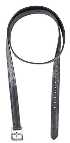 PFIFF 102696 Steigbügelriemen Soft, Leder Riemen Steigbügel, 1 Paar, Schwarz, 150 cm