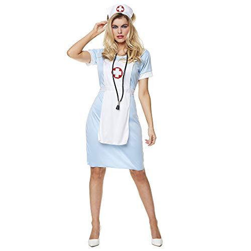 Größe 22 Krankenschwester Kostüm - Karnival 81340Krankenschwester Kostüm, Frauen, blau, extra groß