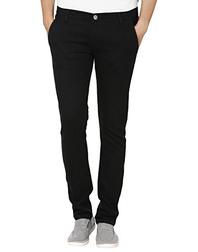 Club-Vintage-Mens-Stretchable-Slim-Fit-Casual-Wear-Black-Jeans