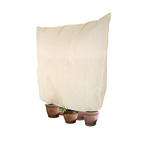 Dokon Housse de Protection Contre Le Gel pour Plantes d'hiver, résistant aux déchirures, Polaire 240 x 200 cm Beige