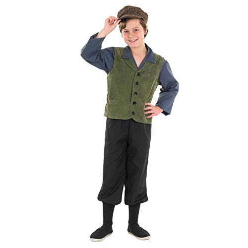 School Kostüm Kid - Fun Shack FNK3458L Kostüm, Boys, Victorian School Boy, Large
