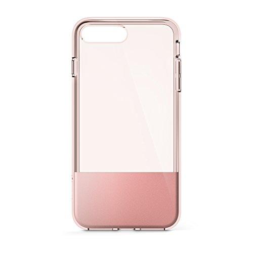 Belkin SheerForce Schutzhülle (TPU, Sturzsicherheit, Anschlüsse frei zugänglich, geeignet für iPhone 8Plus/7Plus)roségold