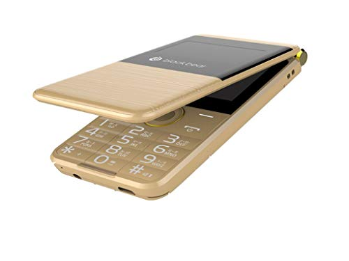 blackbear i7 Trio Dual Sim Gold Flap Phone -Gold
