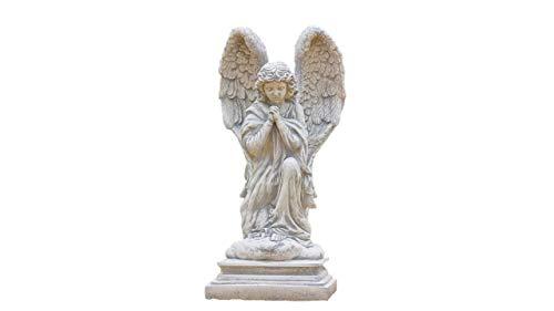 Betender Engel, Skulptur aus Steinguss, Figur Engelfrau, Gartendeko (Betender Statue Engel-garten)