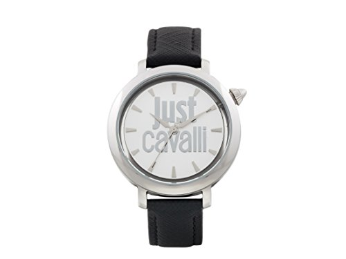 Just Cavalli Damen Analog-Digital Quarz Uhr mit Leder Armband JC1L007L0015
