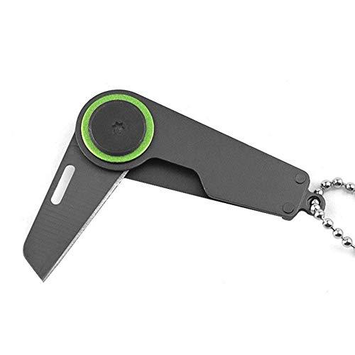 JERALD GATES Schwarz Mini Pocket Taktisches Klappmesser Überleben Tragbare Camping EDC Schlüsselanhänger Werkzeug