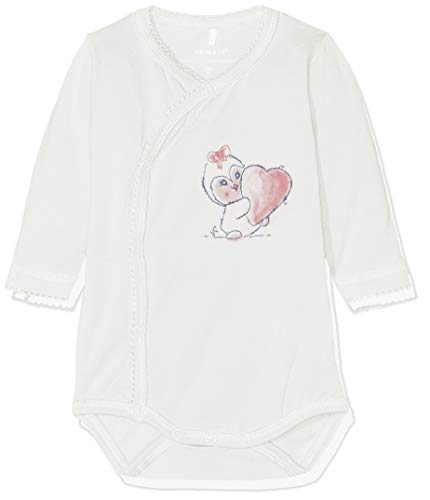 NAME IT Baby - Mädchen NBFRIBEN LS Body Strampler, per Pack Rosa (Snow White Snow White), 62 (Herstellergröße: 62) Pack Onesies